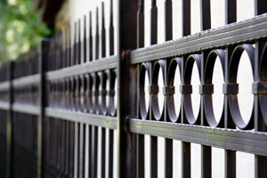 Custom metal fence design in Northbrook